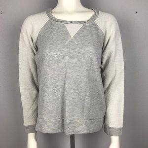 Anthropogie t.la Gray Cream Sweatshirt